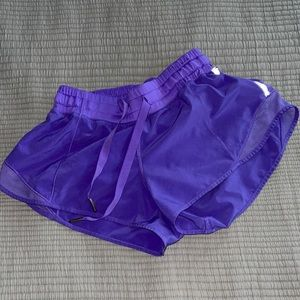 Purple Lululemon 2.5 shorts